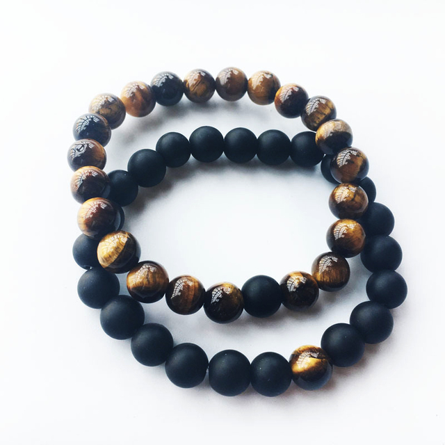 item colorful stone natural hot lava and chakra men agate bracelet beads hand chain energy volcano fashion