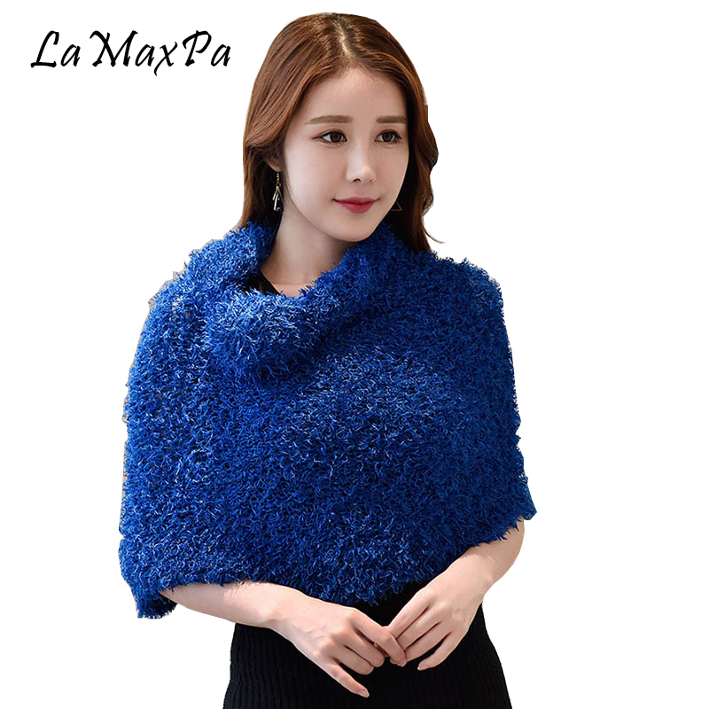 LaMaxPa Dropshipping 35 Colors Fashion Women All-match Magic Scarf Multifunction Warm Pashmina Shawls And Wraps Female Lady Cape