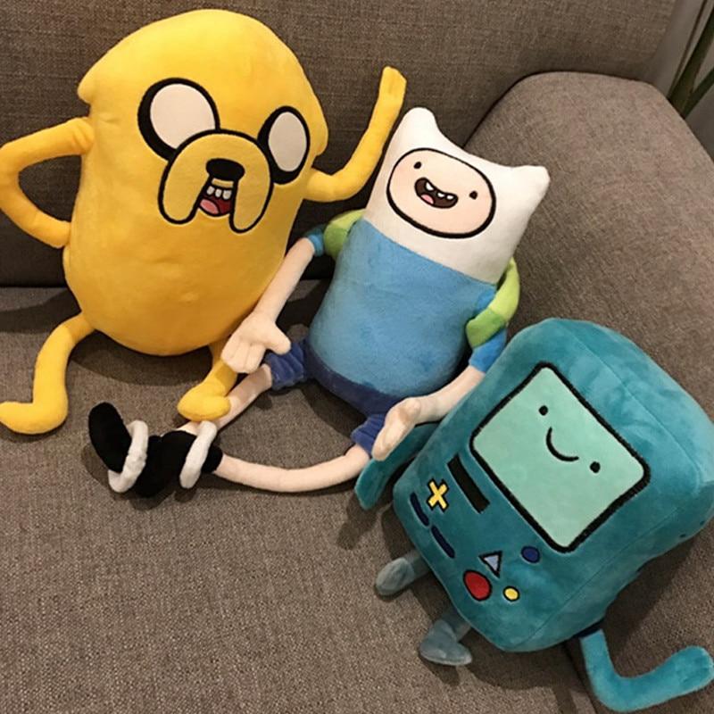 Big Size Adventure Time Plush Toys Finn Jake BMO Soft Stuffed Animal Dolls Party Supplies Girl Boy Birthday Gifts Free Shipping
