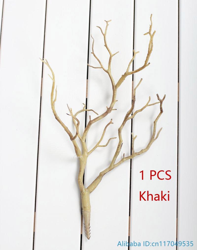 1 шт. Красивая Искусственная маленькая пластиковая высушенная ветка растение домашнее свадебное украшение F220 - Цвет: Kahki