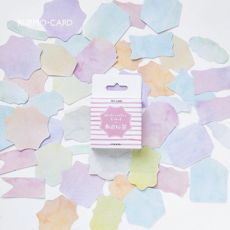 45 Pcs/lot Watercolor Geometry Decorative Stickers Set Adhesive Stickers DIY Decoration Diary Stickers Box Package