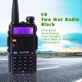 Promoción de doble banda radio de dos vías zastone zt-v8 ztv8 ham radio walkie talkie portátil similares para baofeng 5r walkie talkie