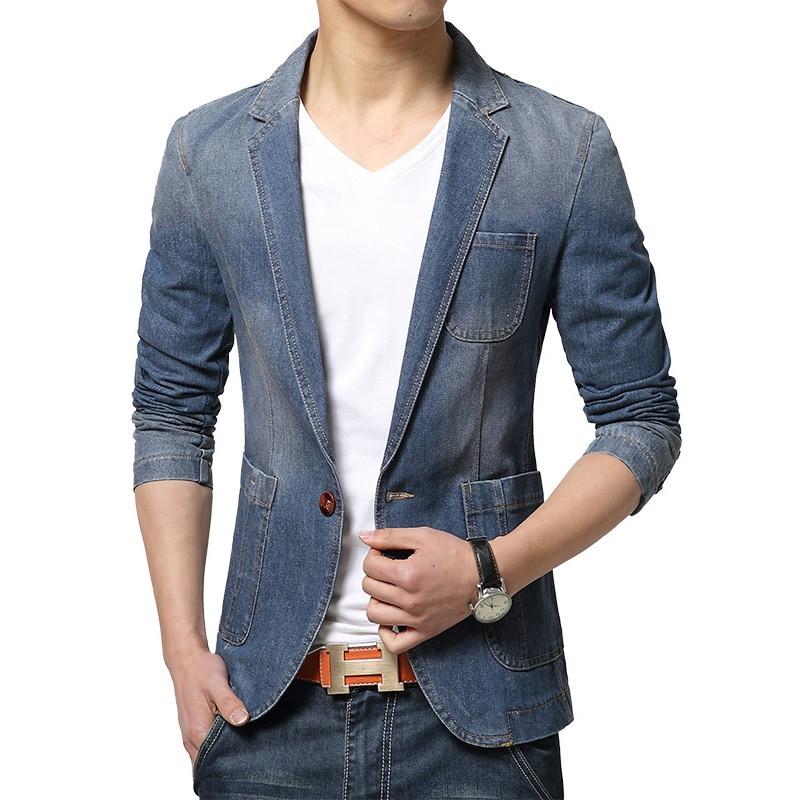 blazer men casual jacket manteau homme herren sakko slim fit blazers. Black Bedroom Furniture Sets. Home Design Ideas