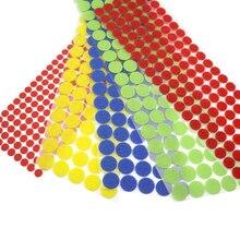 100 пар цветные 10 мм-25 мм клейкие крепежные ленты точки липкая задняя липучка Волшебная наклейка двухсторонняя круглая самоклеящаяся