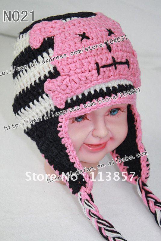 Wholesale Cotton Beanies Baby Animal Hat Crochet Patterns Knitting