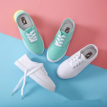 Spring Summer Kids Girls Shoes Sneakers Children Canvas Shoes for Boys And Girls Student School Girls Casual Shoes Sport 4-18T cheap OCQBI Spring Summer Autumn Rubber Unisex Fits larger than usual Please check this store s sizing info Breathable Lace-Up