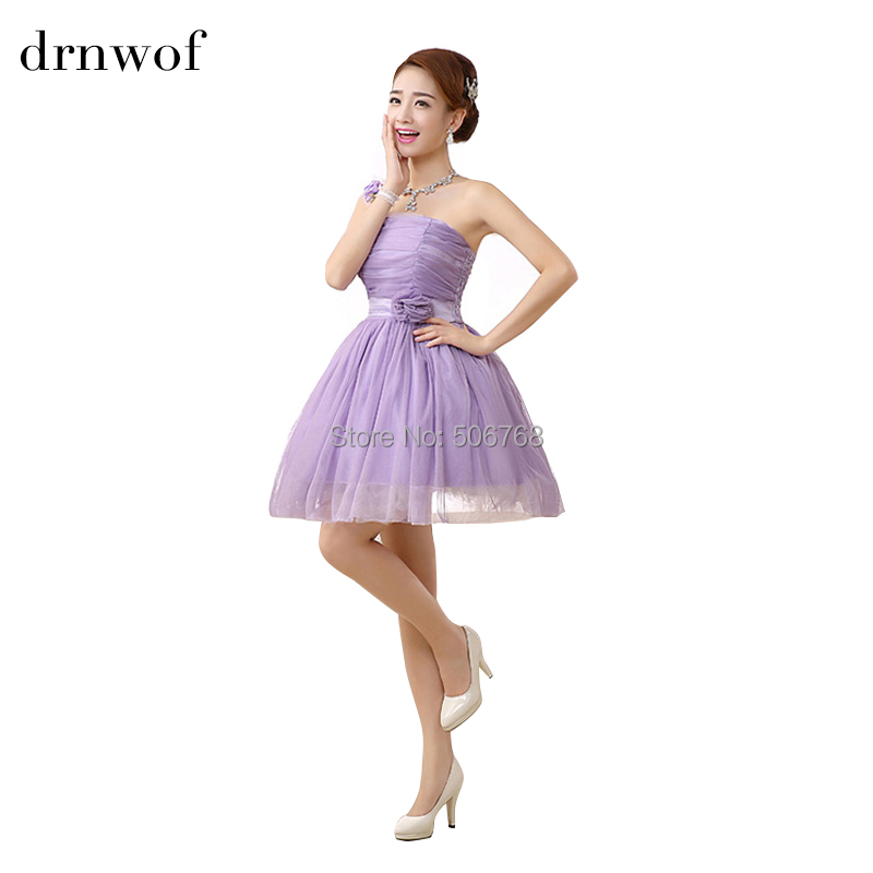 On sale new short chiffon bridesmaid dresses fit junior for Summer dresses for wedding party