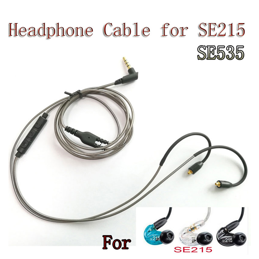 Original MMCX Cable for Shure SE215 SE535 SE846 Earphones Upgrade Replacement Cables with Remote Mic Volume Control Headset Wire sunguy replacement headphone cable with mic for beats solo studio 2 0 earphone remote volume control cable version for iphone