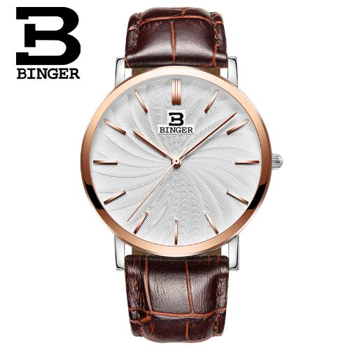 Switzerland Binger Watch Men 2017 Casual Clock Top Brand Luxury Quartz Wrist Watches Male Wristwatch Relogio Masculino hodinky new listing yazole men watch luxury brand watches quartz clock fashion leather belts watch cheap sports wristwatch relogio male