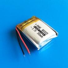 Batterie Lipo rechargeable, polymère, 802025, 3.7V, 300mAh, pour appareil photo, MP3, alimentation personnalisée, vente en gros, CE FCC, ROHS