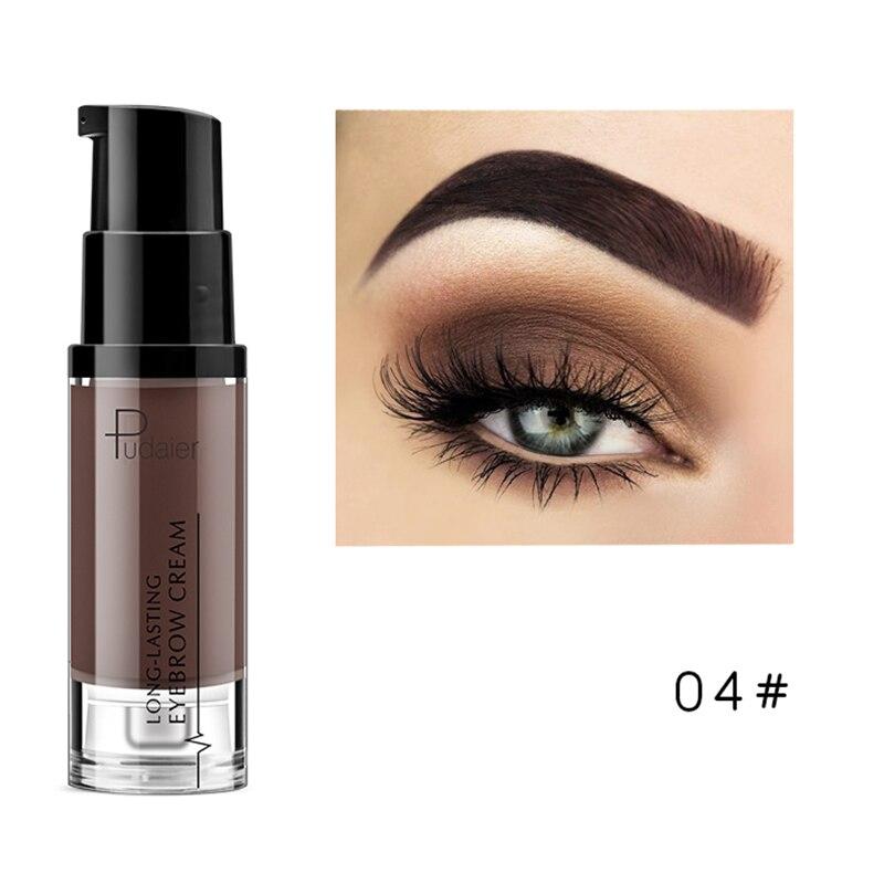 Pudaier, водостойкий Гель для макияжа в форме бровей, стойкий оттенок, тени для естественного увеличения бровей, крем, легко окрашиваемый, TSLM2 - Цвет: 04