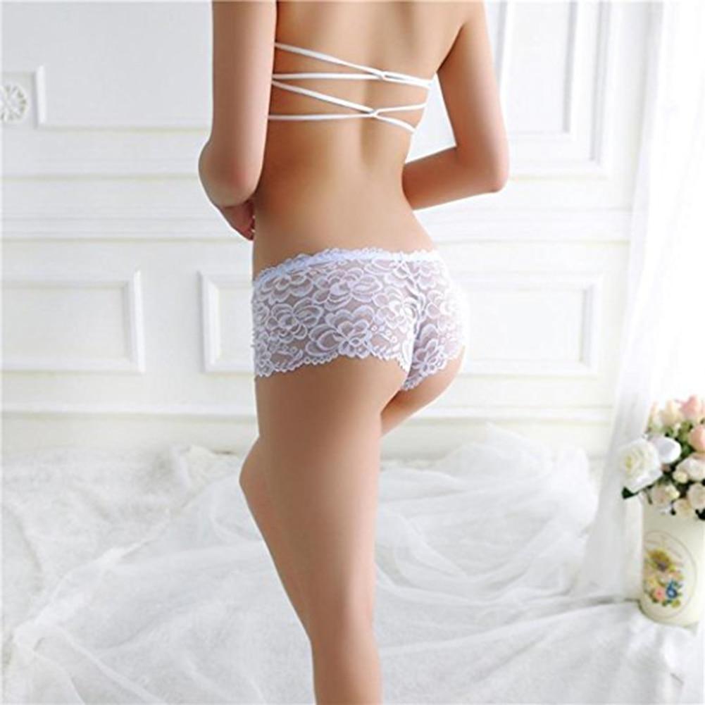 ca3f7c77361 여성 섹시한 레이스 시스루 팬티 팬티 Bowknot 끈 속옷 잠옷-에서여성 ...