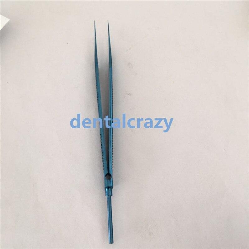 Pince pliante de lentille dinstrument ophtalmique dalliage de titane de taille 134mmPince pliante de lentille dinstrument ophtalmique dalliage de titane de taille 134mm