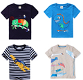 FREE SHIPPING retail brand 2016 new  kids  clothing 100%cotton blouse  clothes  baby boy t shirts short sleeve car