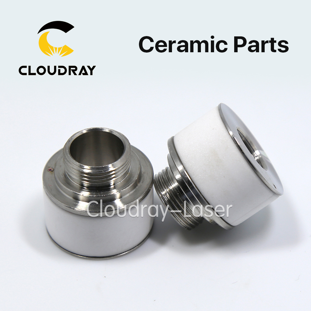 Cloudray Laser Ceramic Nozzle Holder Diameter 24.4mm Height 22.3mm For Fiber Laser Cutting Head Free Shipping цена