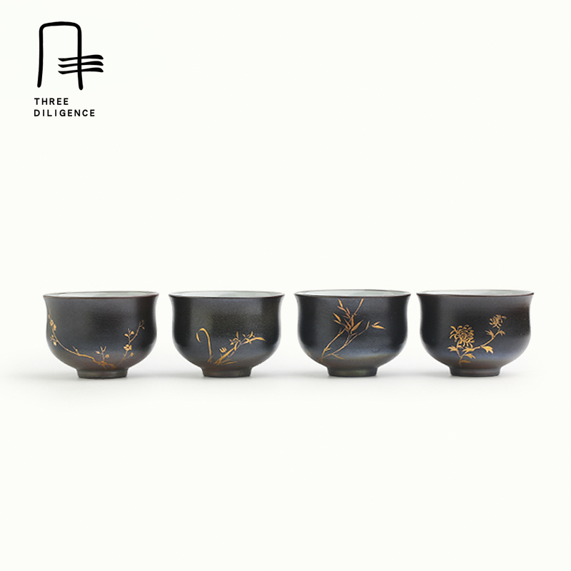 Chinese Kungfu Tea Cup Tea set Japanese style teaware Orchid Bamboo unique oolong teaset Small Porcelain Tea Bowl Christmas