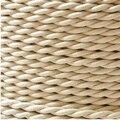 10 m/lote 2*0.75 Bege Trançado Trançado Cabo Da Lâmpada Do Vintage Retro Da Lâmpada de Luz Pendente de Cobre Fio Elétrico Fio Têxtil cabo
