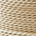 10m/lot 2*0.75  Beige Twisted Braided Electrical Wire Copper Vintage Lamp Cord Retro Pendant Light Lamp Wire Textile Cable