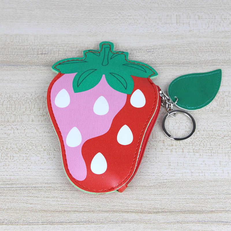 Katuner caliente lindo monedero de fruta PU cuero monedero de sandía mujeres Mini cartera niñas cremallera bolsa niñas titular de la tarjeta KB037