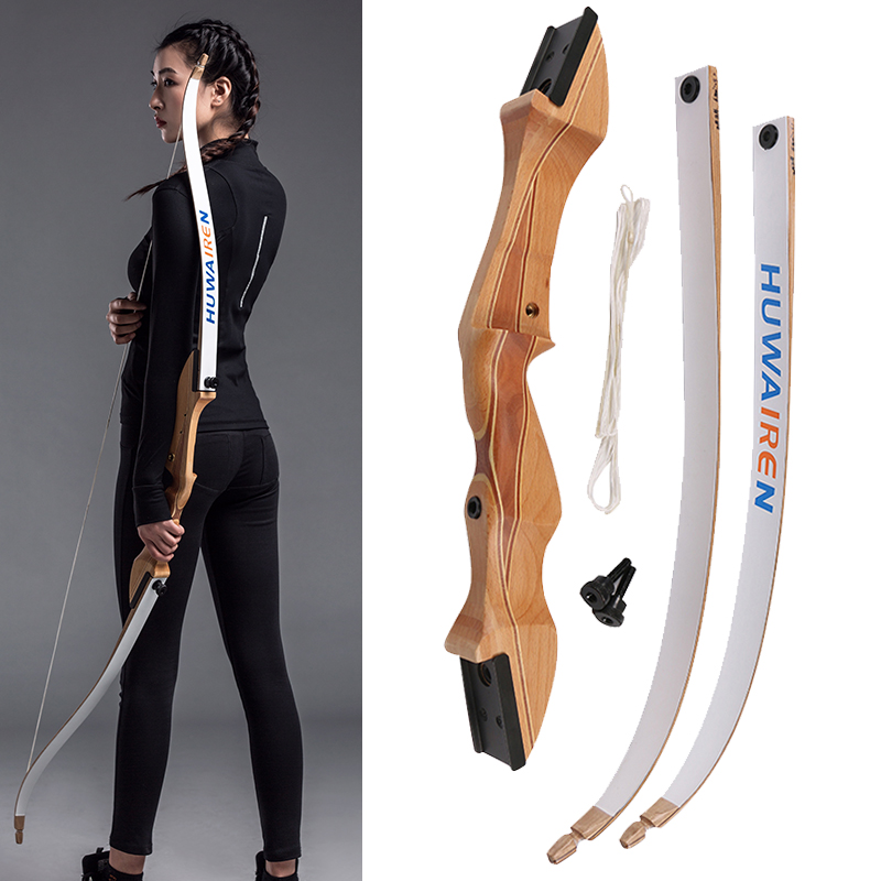 62inch 20-32lbs archery recurve bow laminated wood fiberglass takedown bow shooting hunting bow arrow target outdoor sports archery black horse skin leather bow traditional recurve hunting bow 20 50lbs outdoor shooting sports bow