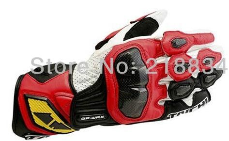 Hot sales Nieuwste gratis verzending racing motorfiets lederen handschoenen carbon sport van motorrace handschoenen