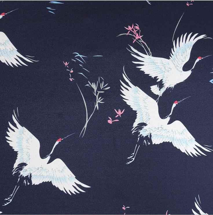 Импортный кран печати шифон жаккард атласная шёлковая ткань для модных женщин платье юбка ручной работы Домашний нежный текстиль по метру