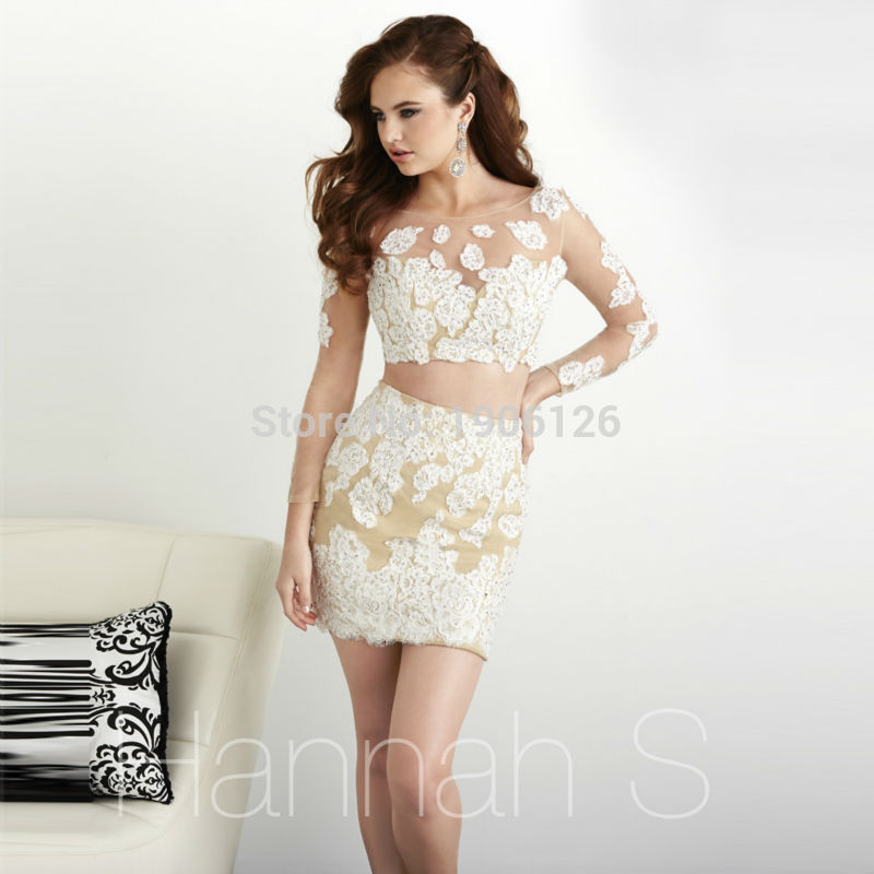 White Party Dresses Long Sleeves 116