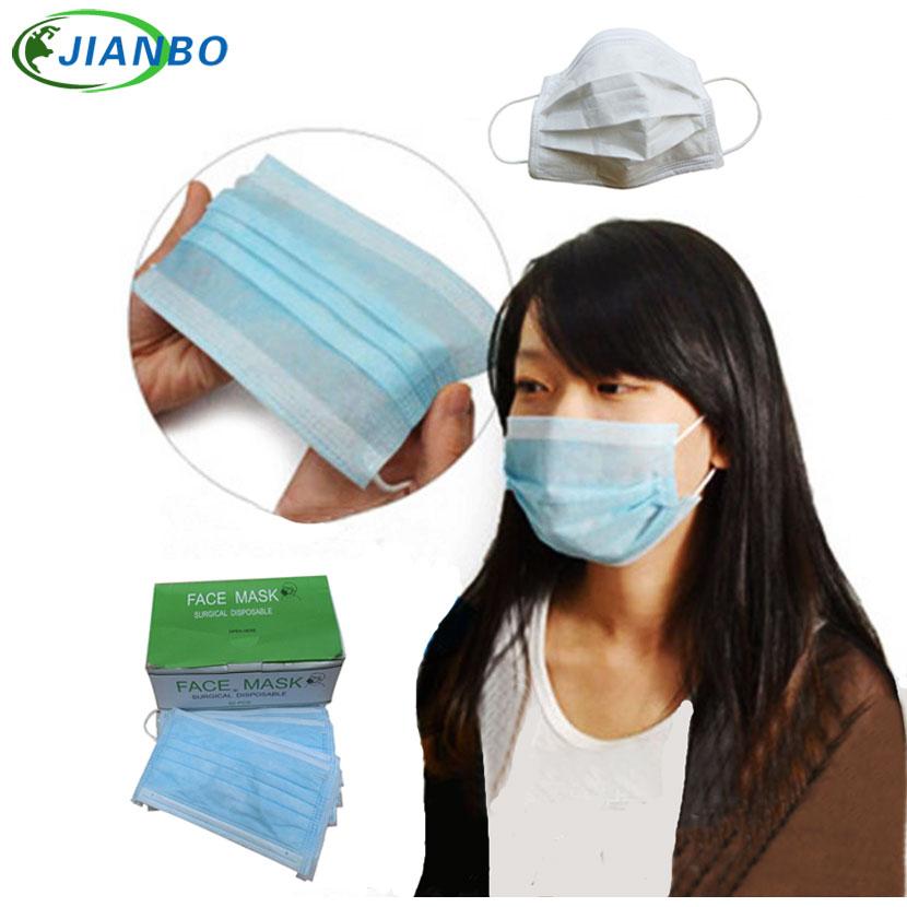 50pcs Chemical Anti Anti-dust Mask Mining Textile Respirator Particle Construction Face Mouth Disposable Haze Masks