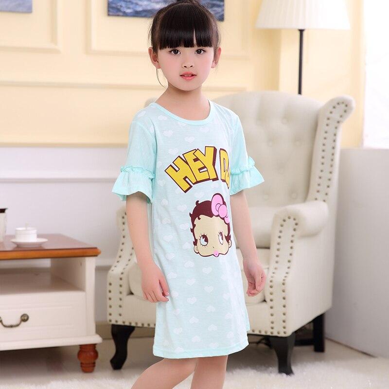 Effizient Prinzessin Kleid Mode Neue Rundhals Weiche Mädchen Kleid Nachthemd Kinder Kleider Nacht Kleid Pyjamas Kleid Nachtwäsche Pyjamas Kleidung Hell In Farbe