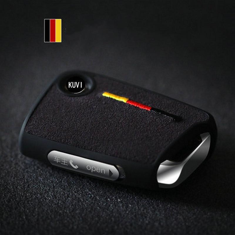 Suede TPU Car Key Remote Case Cover Holder Case For Volkswagen VW Golf 7 Mk7 Seat Ibiza Leon FR 2 Altea Aztec For Skoda Octavia