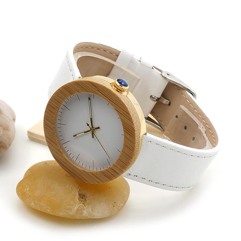 Women Bamboo Wood Watches Montre Femme Lady Quartz Wristwatch relogio feminino C-J27 (1)