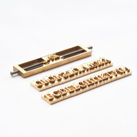 Copper mold leather printing uppercase lowercase 26 English letters 0 9 digital optional font any combination of copper mold
