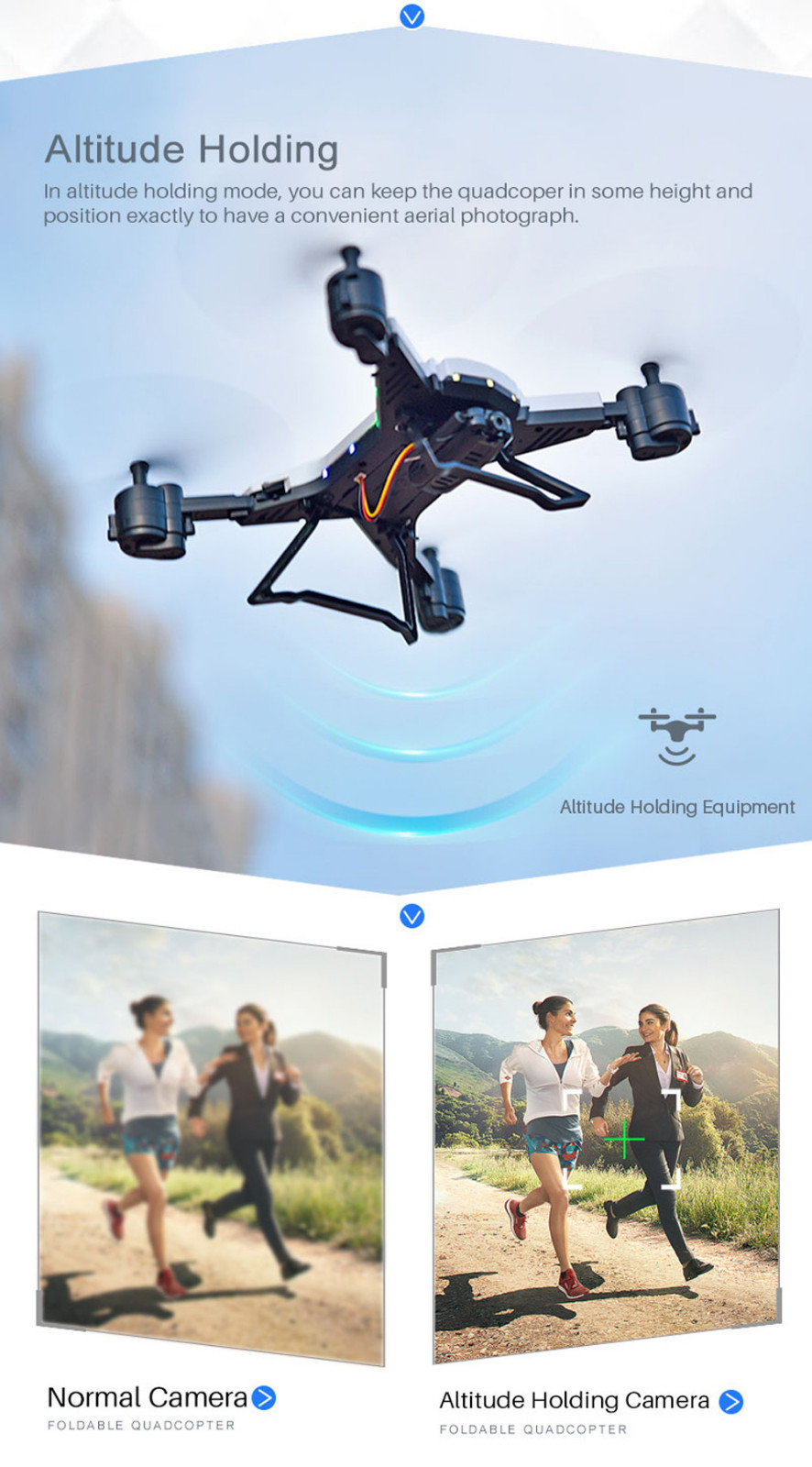 601S 1080P 5MP Quadcopter With Camera Foldable WIFI FPV Drone 20Min Flying 6-axis 4CH RC Helicopter Selfie Drones With Camera HD 18