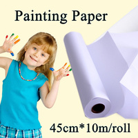 45cm*10m Painting Paper Roll Children Art Sketch Paint Painting Board water color Paper