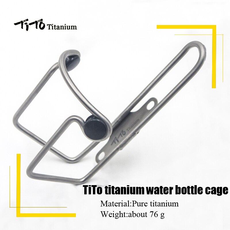 TiTo Alliage de Titane VTT/vélo de Route Bouteille D'eau Cage Vélo Boisson Bouteille D'eau Support de Support Vélo Accessoires alliage de titane boulons