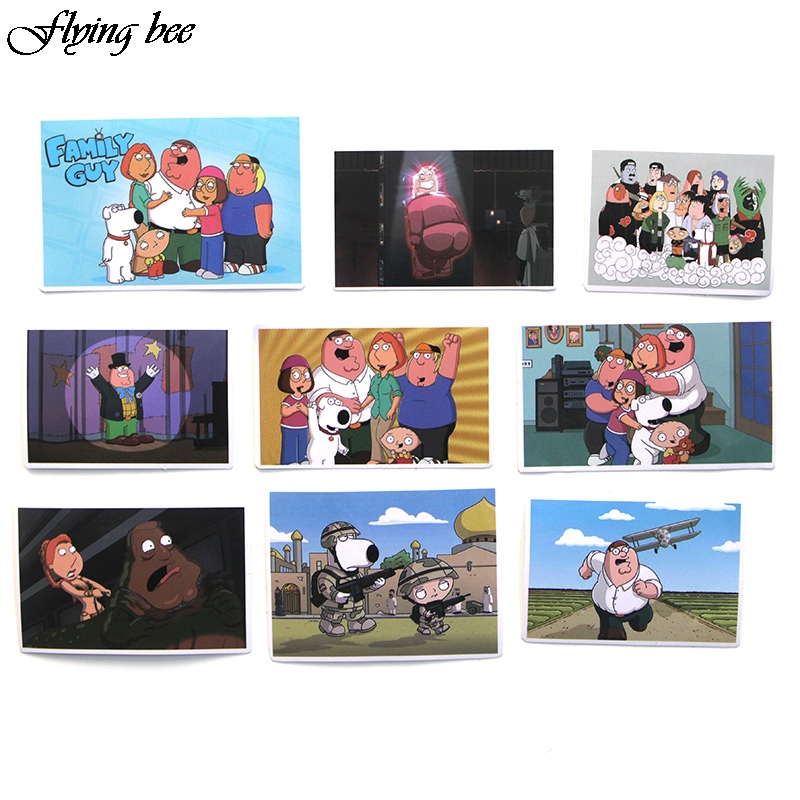 Image 5 - Flyingbee 55 Pcs Family Guy funny Anime Sticker Decals Scrapbooking Stickers for DIY Luggage Laptop Skateboard Car X0010-in Stickers from Consumer Electronics
