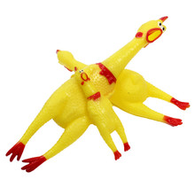 Pet's Squeeze Squeaky Chicken Shaped Toys