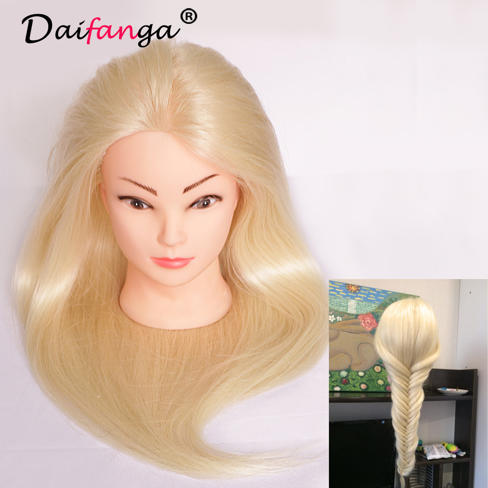 2017 New Arrival Hair Mannequin 80% Human Hair Mannequin Head For School Practise Hairstyling Professional Training Head