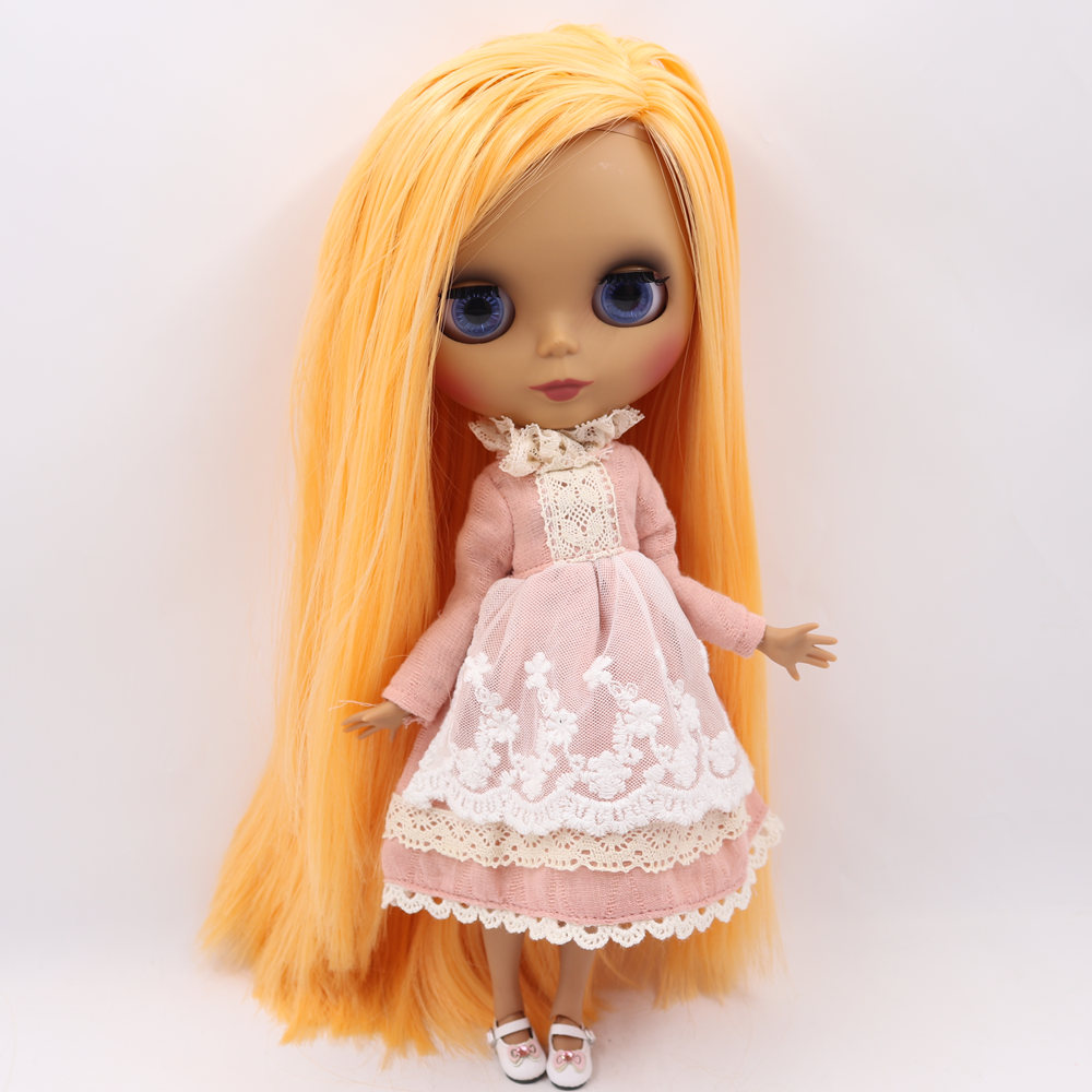 ICY Nude Blyth Doll No BL0559 Mango hair Black Matte face Joint body 1 6 bjd