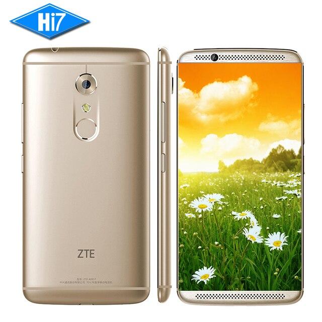 """Новый оригинальный zte axon 7 4 г ram 128 ГБ rom мобильный телефон Android 6.0 Snapdragon 820 Quad Core 20.0MP Привет-fi 5.5 """"отпечатков пальцев 3250 мАч"""