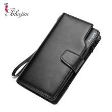 Pahajim 2017 Men Purse Casual Wallet Clutch Bag Brand Leather Long Wallet Brand Hand Bags For Men Purse