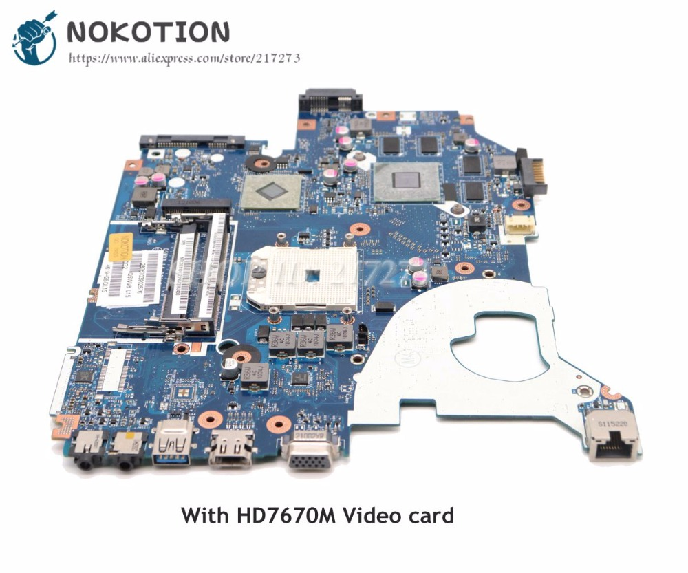 NOKOTION Laptop Motherboard For Acer aspire V3-551 V3-551g Main Board HD7670M Video card NBC1811001 NB.C1811.001 Q5WV8 LA-8331P original for acer for aspire v3 551 laptop motherboard fs1 q5wv8 la 8331p 100% tested good