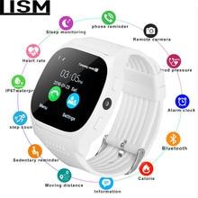 Bluetooth T8 Smart Watch Sport Wristwatch Support 2G SIM TF Camera Smartwatch For Android Phone PK GT08 DZ09 Q18 Y1 V8 Reloj men цена