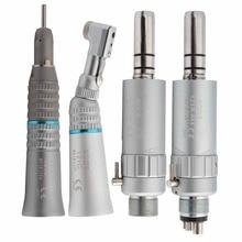 Dental Lage Snelheid Handstuk Kit Air Turbine Straight Contra Hoek Air Motor 2/4 Gaten Beschikbaar Bode