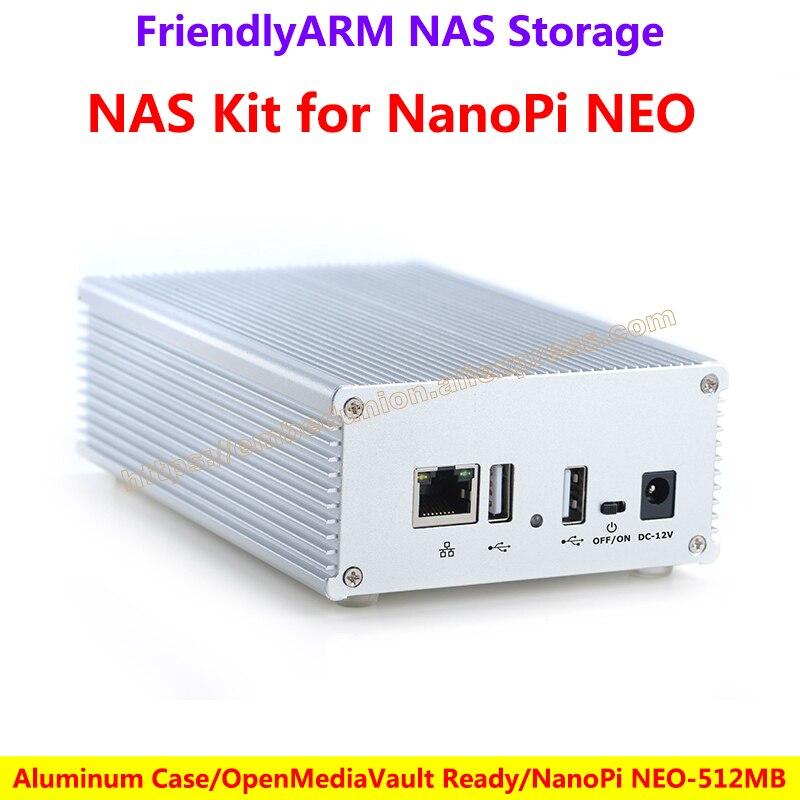 NAS Kit for NanoPi NEO(512M) Aluminum Case OpenMediaVault Ready NanoPi NEO-512M Application