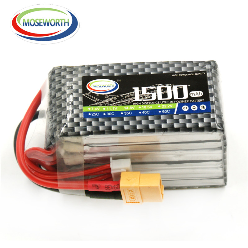MOSEWORTH 6S RC lipo battery 22.2v 1500mAh 25C For RC Airplane Drone Tank Quadrotor Li-ion batteria cell AKKU Free shipping moseworth 2s rc drone lipo battery 7 4v 6000mah 40c for rc airplane tank car 2s batteria cell akku