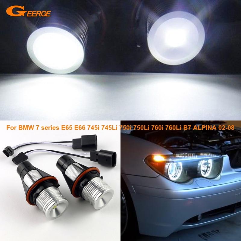 For BMW 7 series E65 E66 745i 745Li 750i 750Li 760i 760Li B7 ALPINA 2002 2008 Excellent Quality LED Angel Eye Halo Light bulb