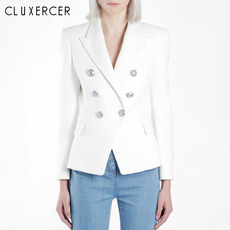 High Quality Ladies Blazer Long Sleeve Blaser Women Suit Jacket Female Feminine Blazer Femme Classic Black