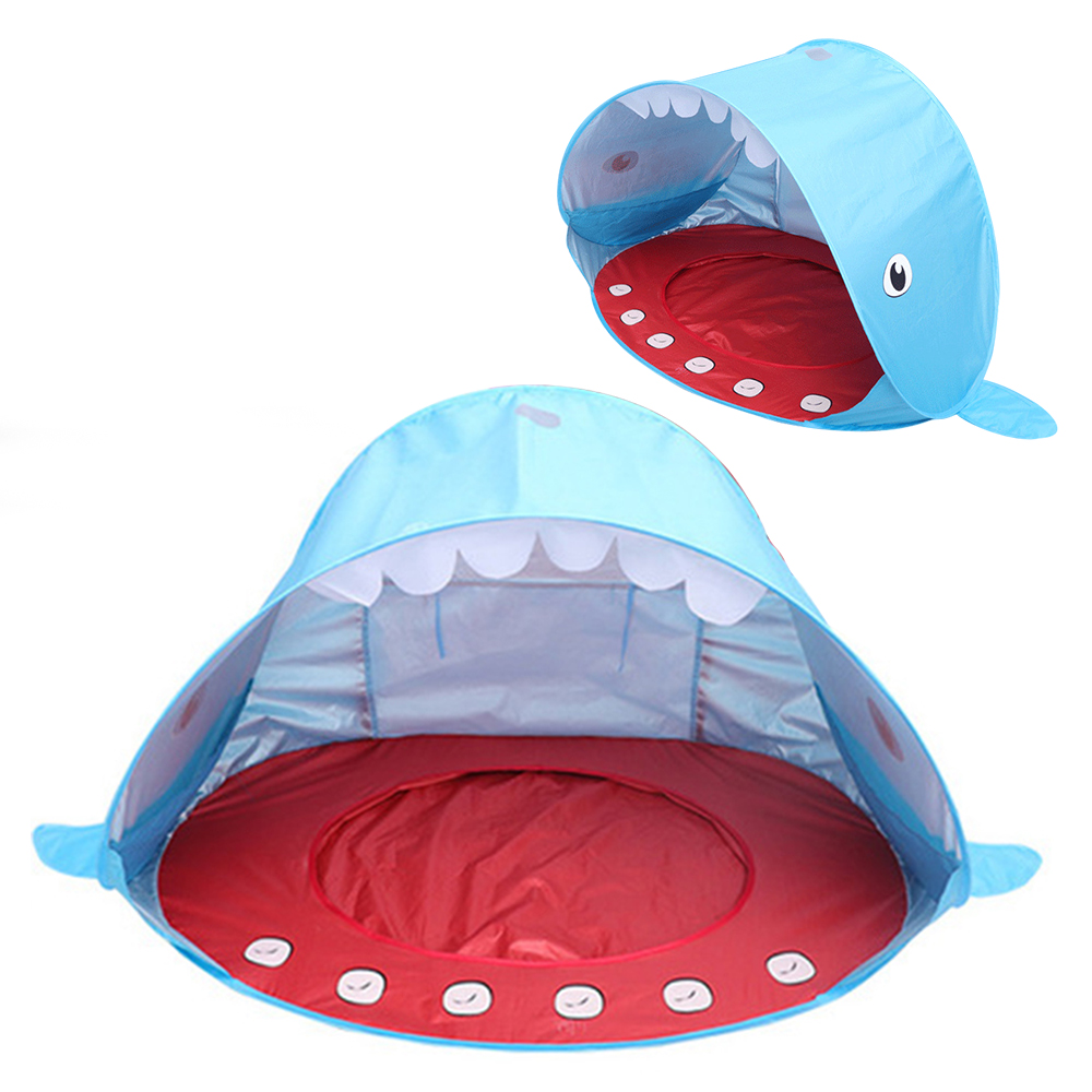 Childrens tent Beach Wigwam Shark Shape Tent For Kids Portable Kids Tent Camping Sunshade Toys UV-protection Folding Awning ToyChildrens tent Beach Wigwam Shark Shape Tent For Kids Portable Kids Tent Camping Sunshade Toys UV-protection Folding Awning Toy