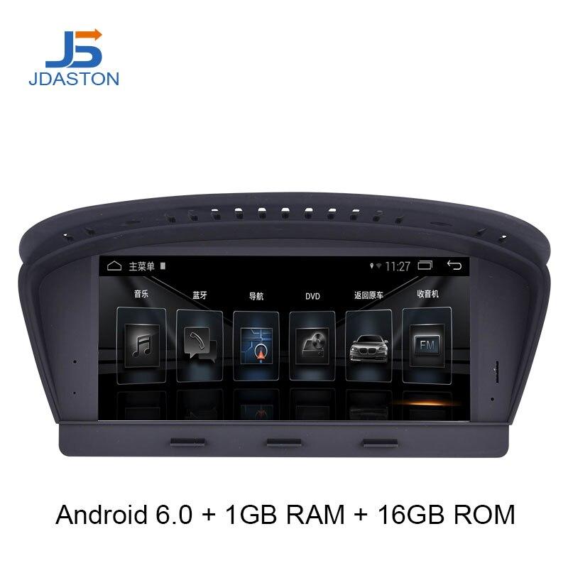 JDASTON Android 6,0 dvd плеер автомобиля gps навигации для серии BMW 5 E60 E61 E62 Мультимедиа Радио Canbus SWC WI FI DVR карта usb